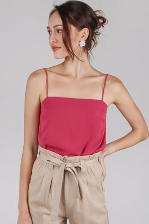 Suzette Spag Cami in Rose