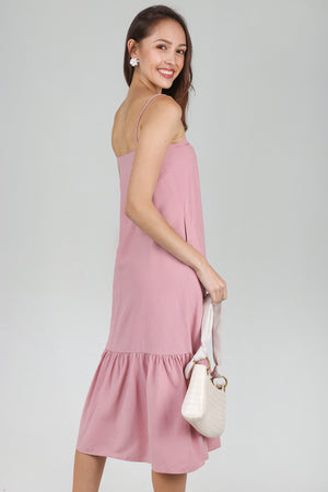 Helena Dropwaist Dress in Pink