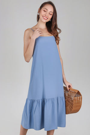 Helena Dropwaist Dress in Blue