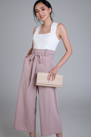 Callie Paperbag Jumpsuit in Nude