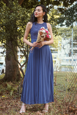 Summer Romance Maxi in Dusty Blue