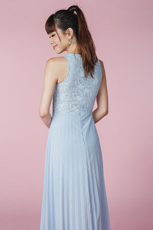 Restocked** Summer Romance Maxi in Sky
