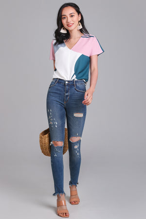 Sunny Days Top in Forest Pink