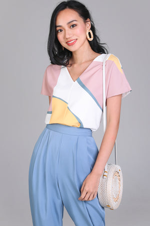 Sunny Days Tee Top in Lemon Rose