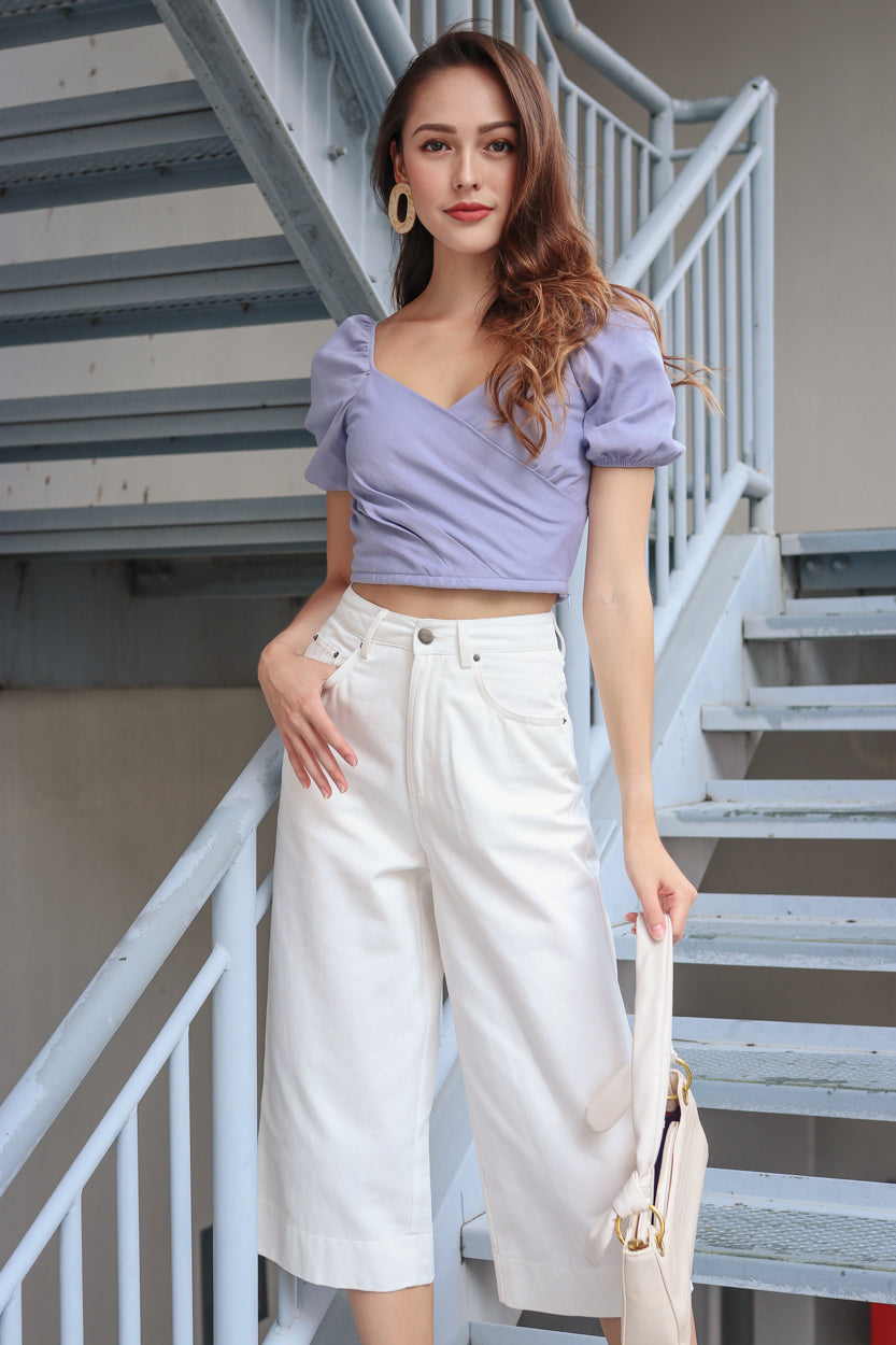 Backorder* Thea Sweetheart Top in Lilac