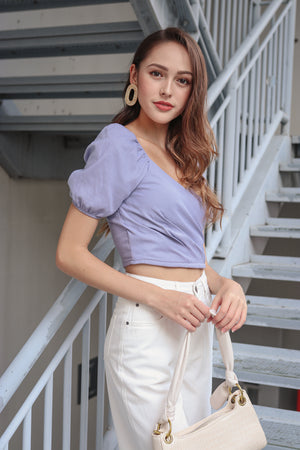 Thea Sweetheart Top in Lilac