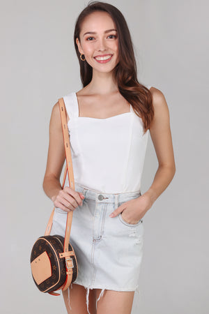 Mae Sweetheart Top in White
