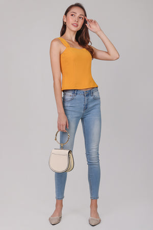 Mae Sweetheart Top in Marigold