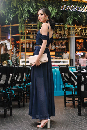 Clair De Lune Maxi Dress in Navy