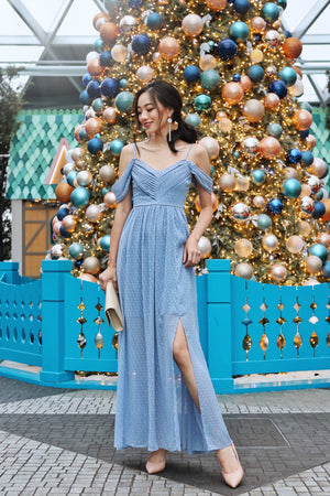 Clair De Lune Maxi Dress in Dusty Blue