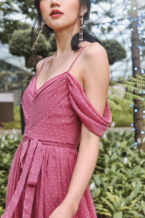 Clair De Lune Maxi Dress in Tea Rose