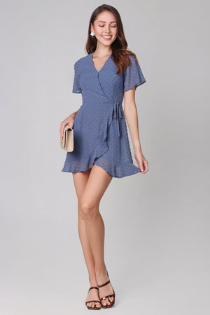 Ethel Swiss Dots Playsuit in Blue