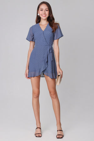 Backorder* Ethel Swiss Dots Playsuit in Blue