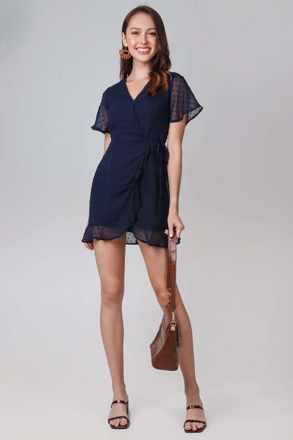 Ethel Swiss Dots Playsuit in Navy