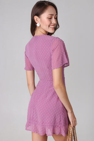 Ethel Swiss Dots Playsuit in Pink