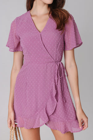 Restocked* Ethel Swiss Dots Playsuit in Pink