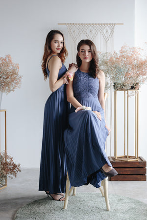 Spring In The Air Maxi in Dusty Blue