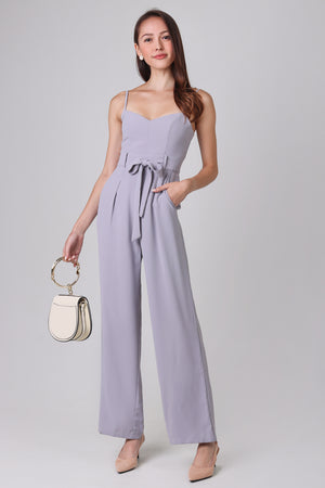 Tall Order Jumpsuit in Lilac Grey
