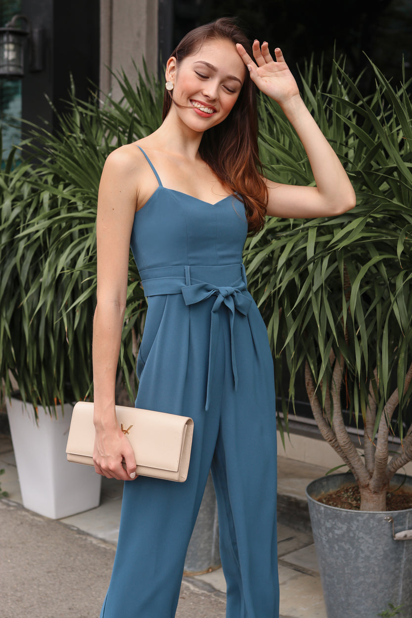 Tall Order Jumpsuit in Teal