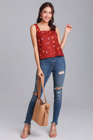 Be My Clementine Top in Rust