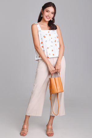 Be My Clementine Top in White