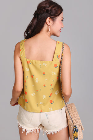 Be My Clementine Top in Yellow