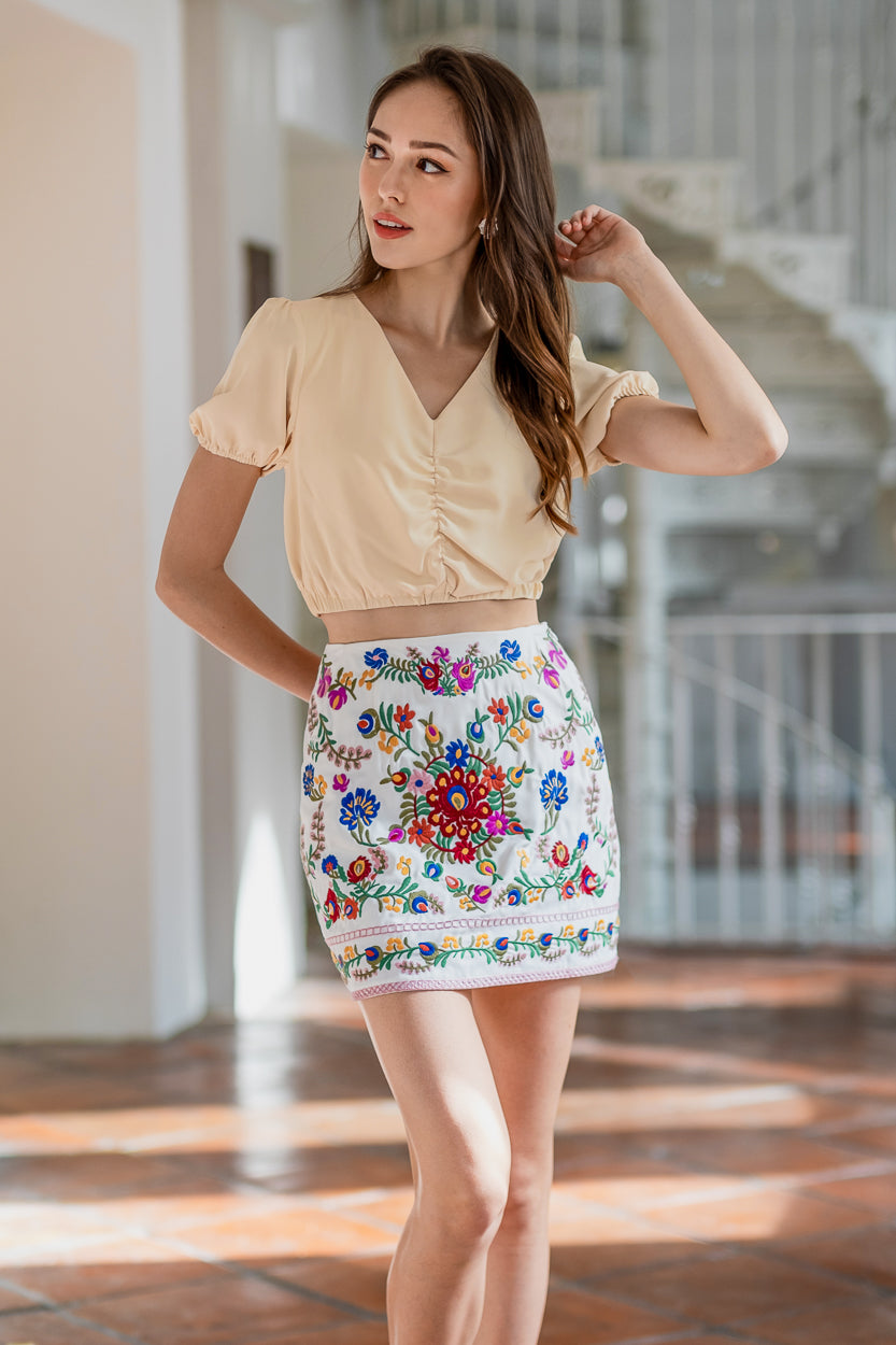 Backorder* Tapestry A-Line Skorts in White