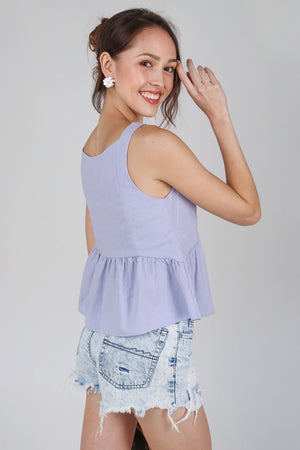 Joy Tassel Babydoll Top in Lilac