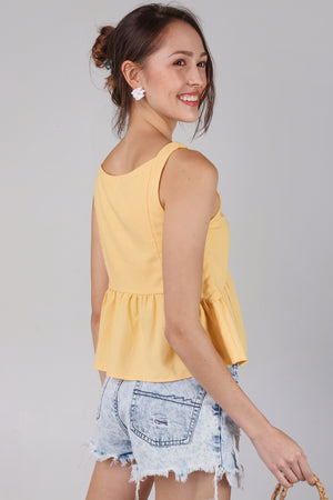 Joy Tassel Babydoll Top in Daffodil