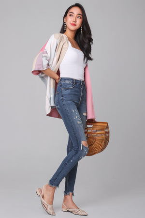 Restocked* Terra Kimono Jacket in Pink (Reversible)