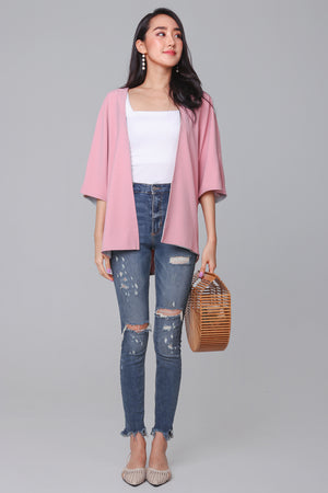 Backorder* Terra Kimono Jacket in Pink (Reversible)