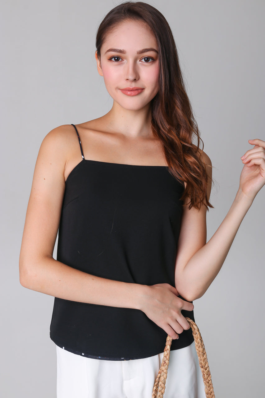 Terazzo Cami Top in Black (Reversible)