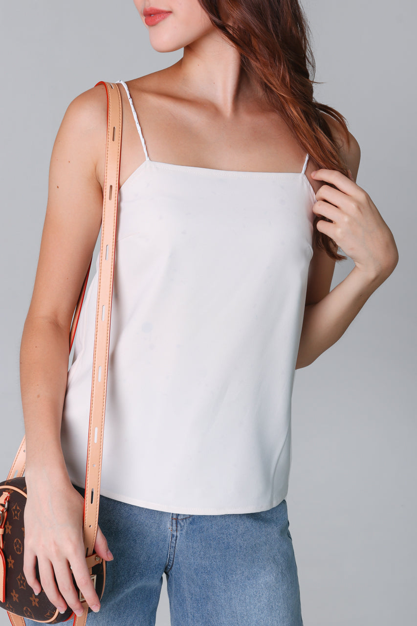 Terazzo Cami Top in White (Reversible)