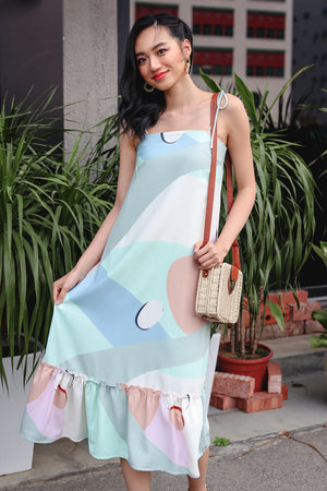 Sweet Soiree Tie-Strap Dress in Mint