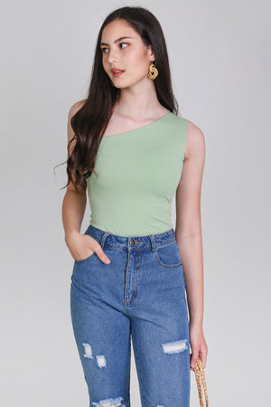 Basic Toga Bodysuit in Pistachio