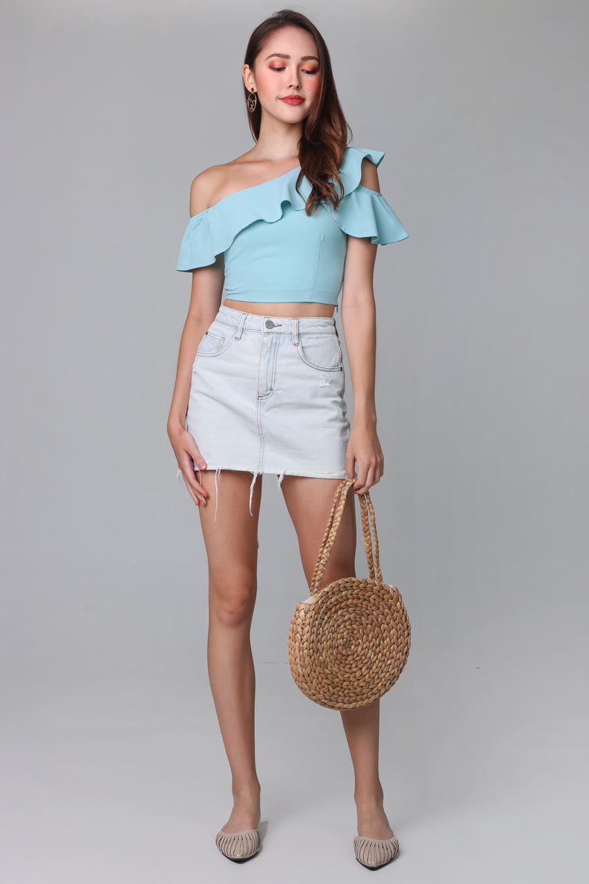 Lindsey Toga Top in Mint