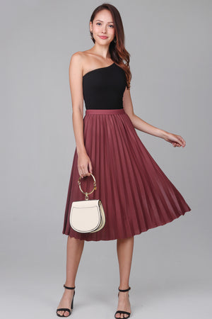 Corinne Pleated Skirt in Rose
