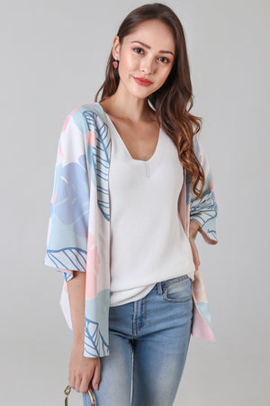 Backorder* Tropics Kimono Jacket in Blush Pink (Reversible)