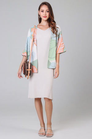 Restocked* Tropics Kimono Jacket in Sage Green (Reversible)