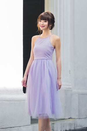 Midsummer's Night Tulle Dress In Lilac