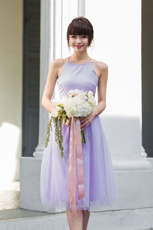 Restocked** Midsummer's Night Tulle Dress In Lilac