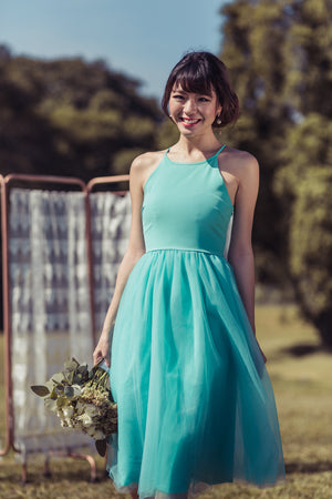 Midsummer's Night Tulle Dress In Mint