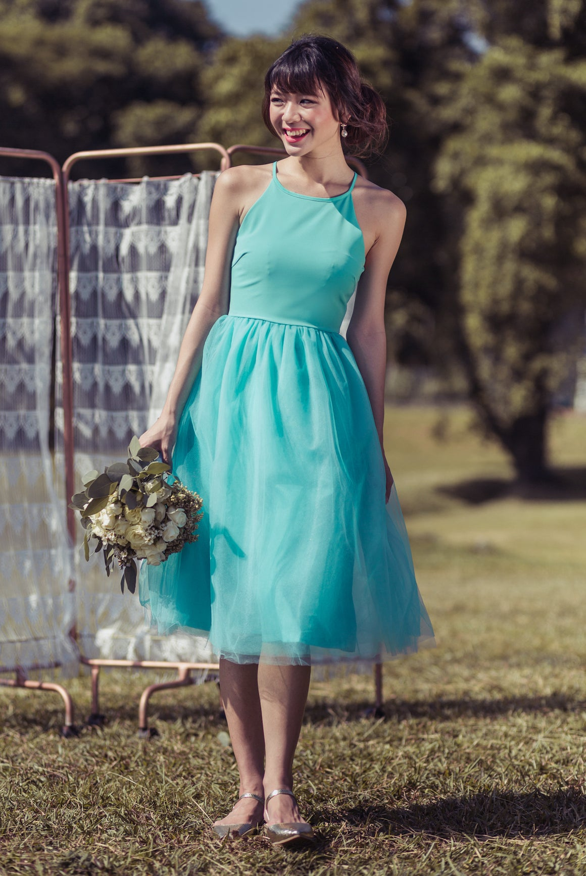 Restocked** Midsummer's Night Tulle Dress In Mint
