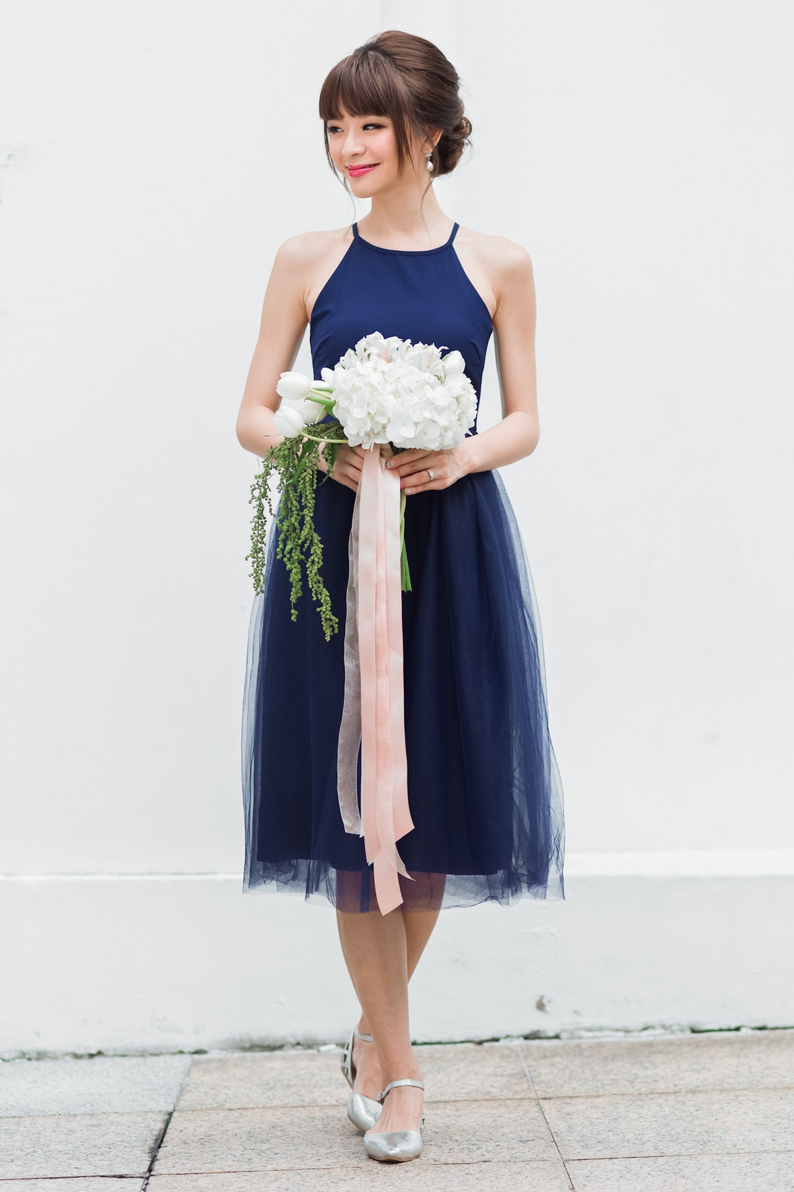 Restocked** Midsummer's Night Tulle Dress In Navy