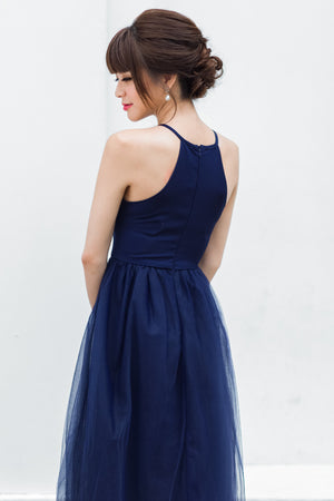 Midsummer's Night Tulle Dress In Navy