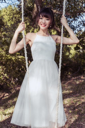 Restocked* Midsummer's Night Tulle Dress In White