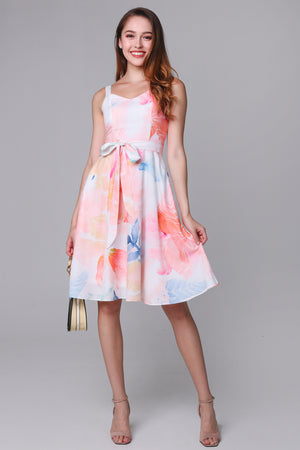 Watercolor Landscape Skater Dress (2-Way)