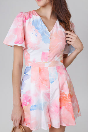 Watercolor Landscape Romper