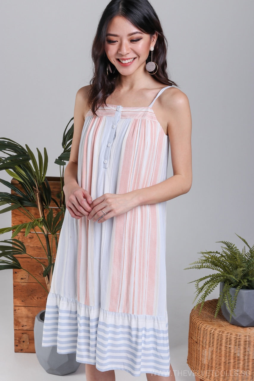 Dorothy Pastel Stripe Slip Dress