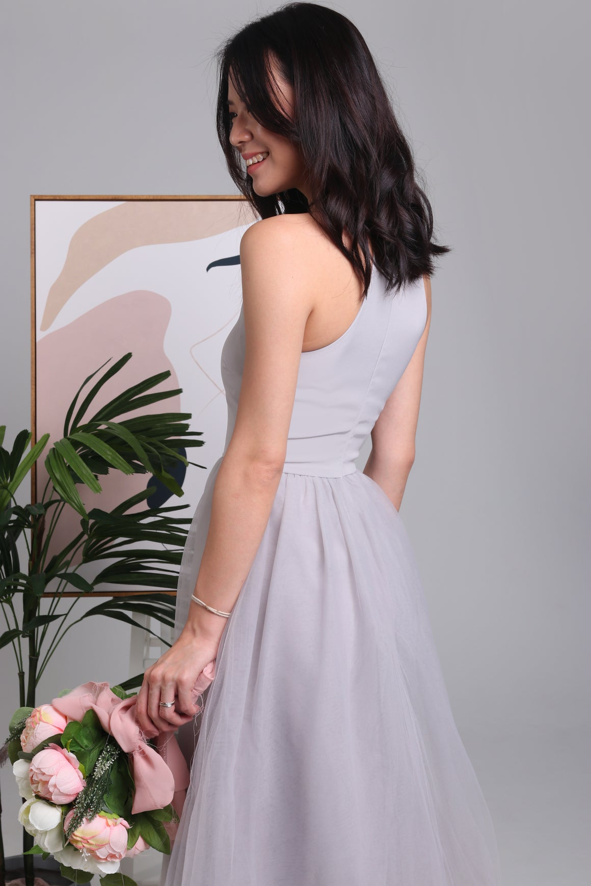 Midsummer's Night Tulle Dress in Grey